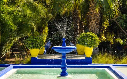 Marrakesch 1001 Nacht In Marokko Jardin Majorelle Jardin Bleu Jardins