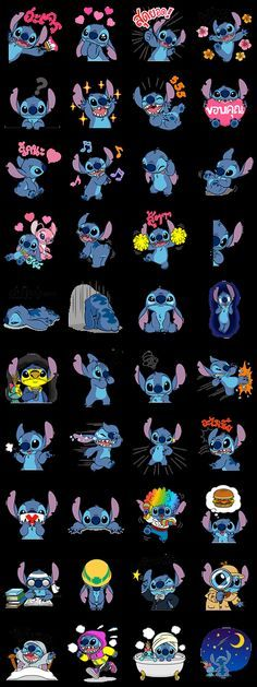 Stitch Returns Line Sticker