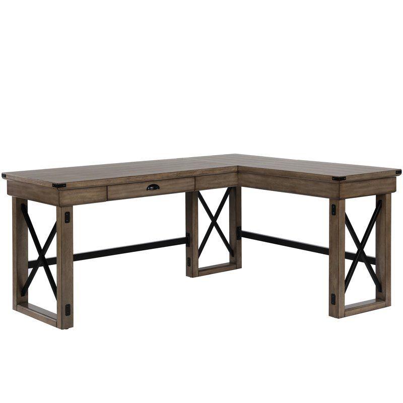 Gladstone L Shape Standing Desk L Shaped Desk Solid Wood Writing Desk Wood Writing Desk