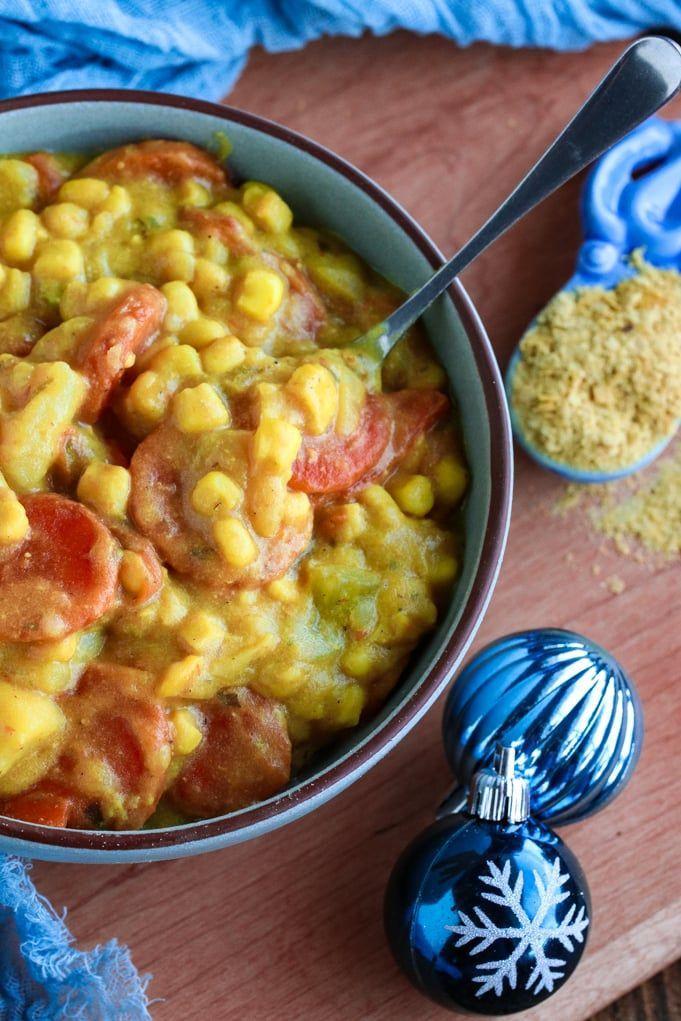 One Pot Vegan Corn Chowder