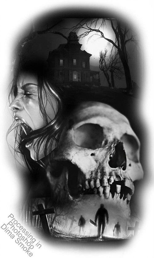 Nocturnehandcrafts Friedhof Tattoo Mystische Bilder Friedhof