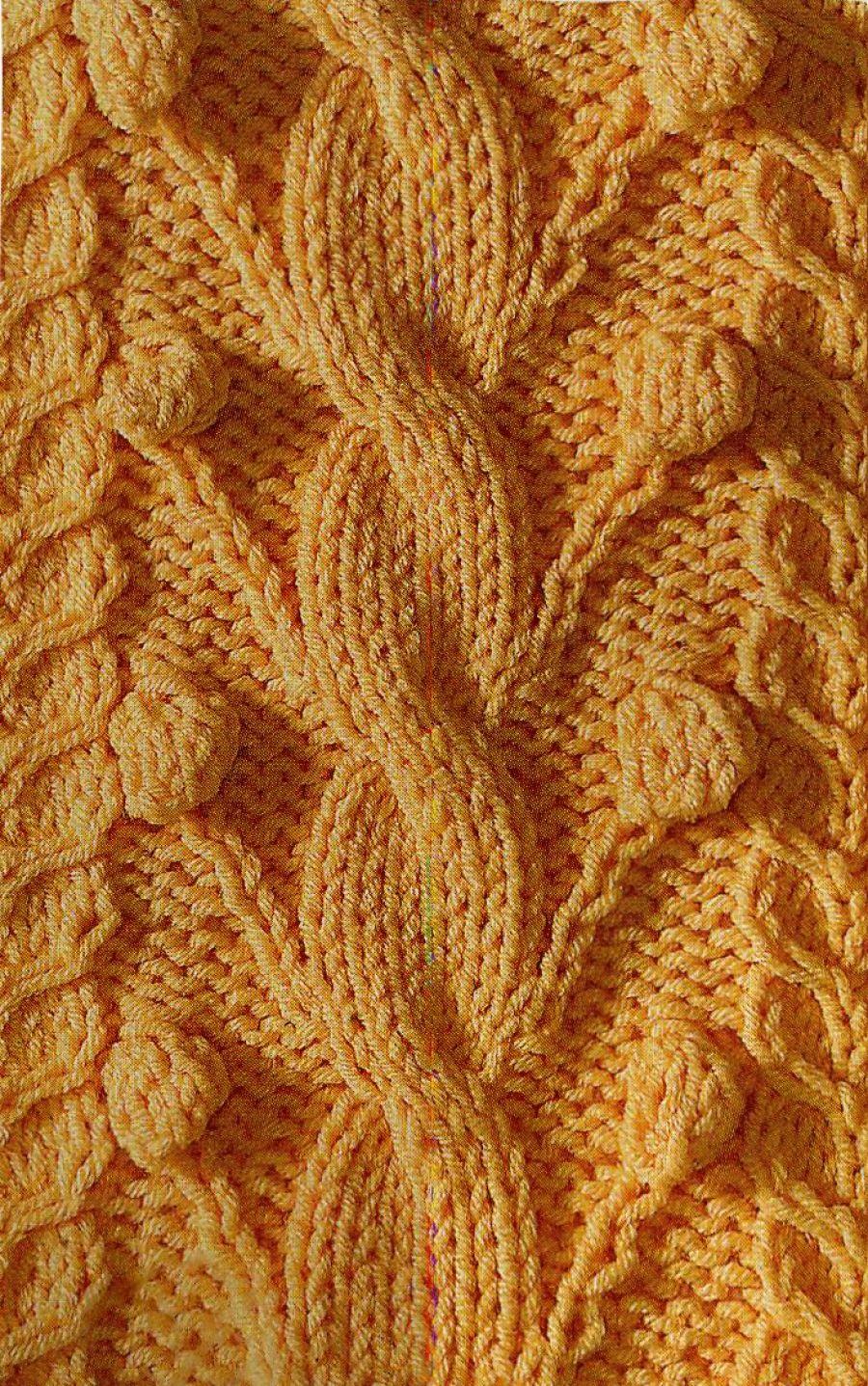 Узор косы спицами 19 | patterns | Pinterest | Knit patterns, Stitch ...