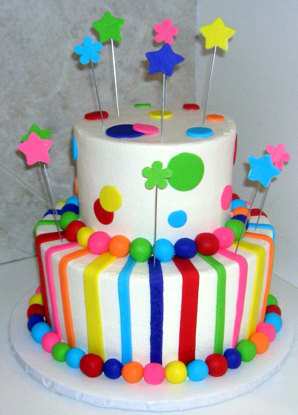 Multi color cake | Cakes Colors & Themes | Pinterest | Torten ...