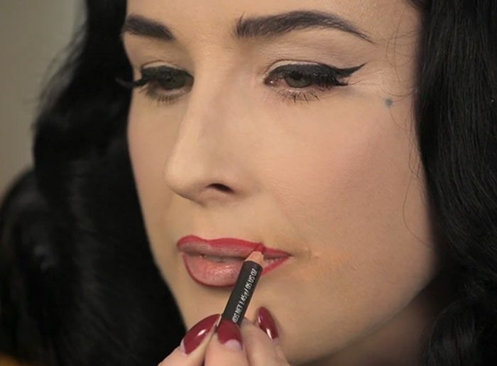 Dita Von Teese Shows How To Create The Perfect Red Lip Look Red