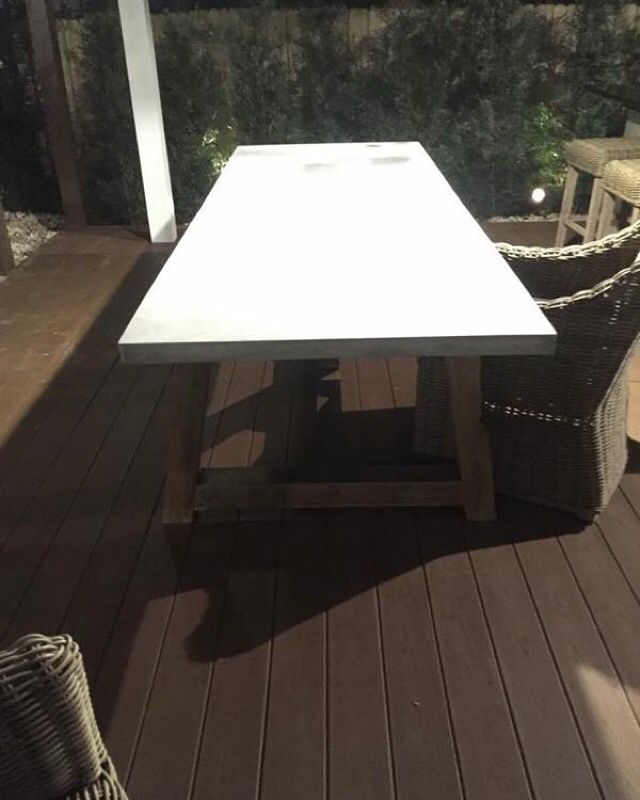 10ft Light Gray Gfrc Dining Table With An A Frame Base Concrete
