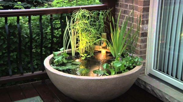 Mini Gartenteich Bauen - Kleine Oasen Im Garten Oder Auf Dem ... Miniteich Fur Den Balkon Ideen Bilder