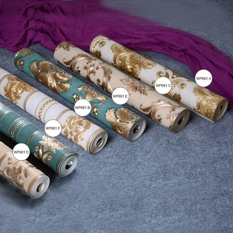 Best Classic Luxury Damask Wallpaper Roll 3D Embossed Pvc Vinyl 640 x 480