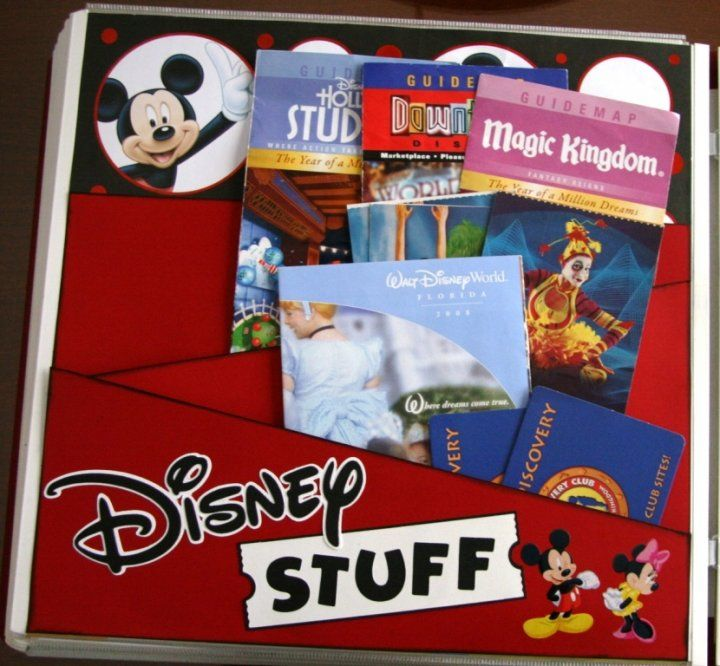 vacation scrapbook page