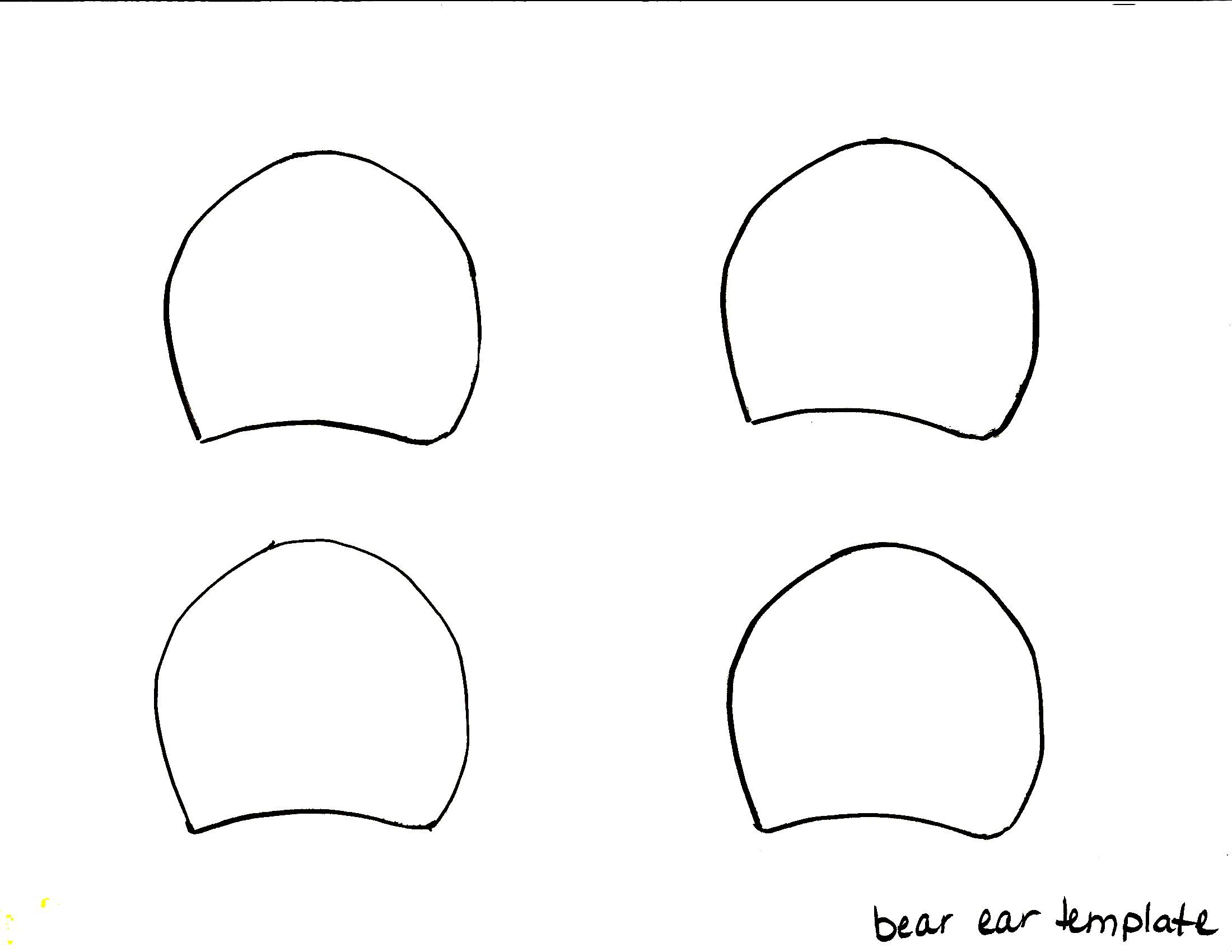Bear Ears Headband Template Gallery For Ear Template Costumes