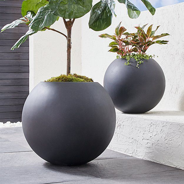 Sphere Large Dark Grey Planter Reviews Crate And 400 x 300