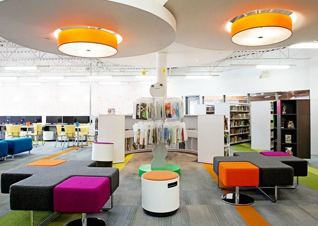 Best Of Category 2014 Library Interior Design Award Winners Glenmore Christian Academy Elementary