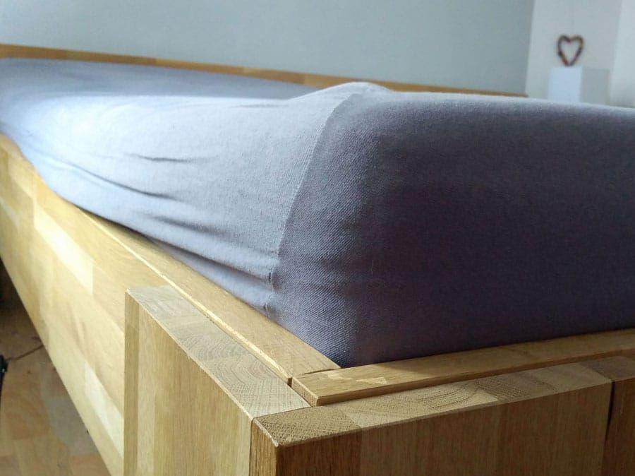 Robustes Bett In Uberlange Bauen Bett Bettfuss Holzleim
