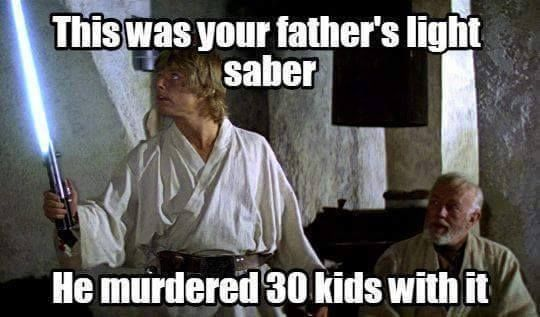 Lukes Lightsaber Jpg 540 317 Pixels Star Wars Humor Star Wars Memes You Are The Father