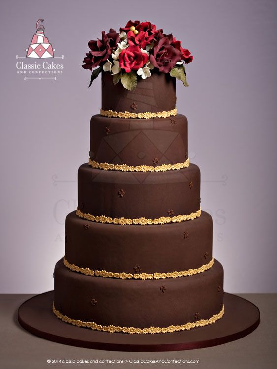 chocolate brown and gold wedding cakes chocolate wedding cake with gold trim classic 12689