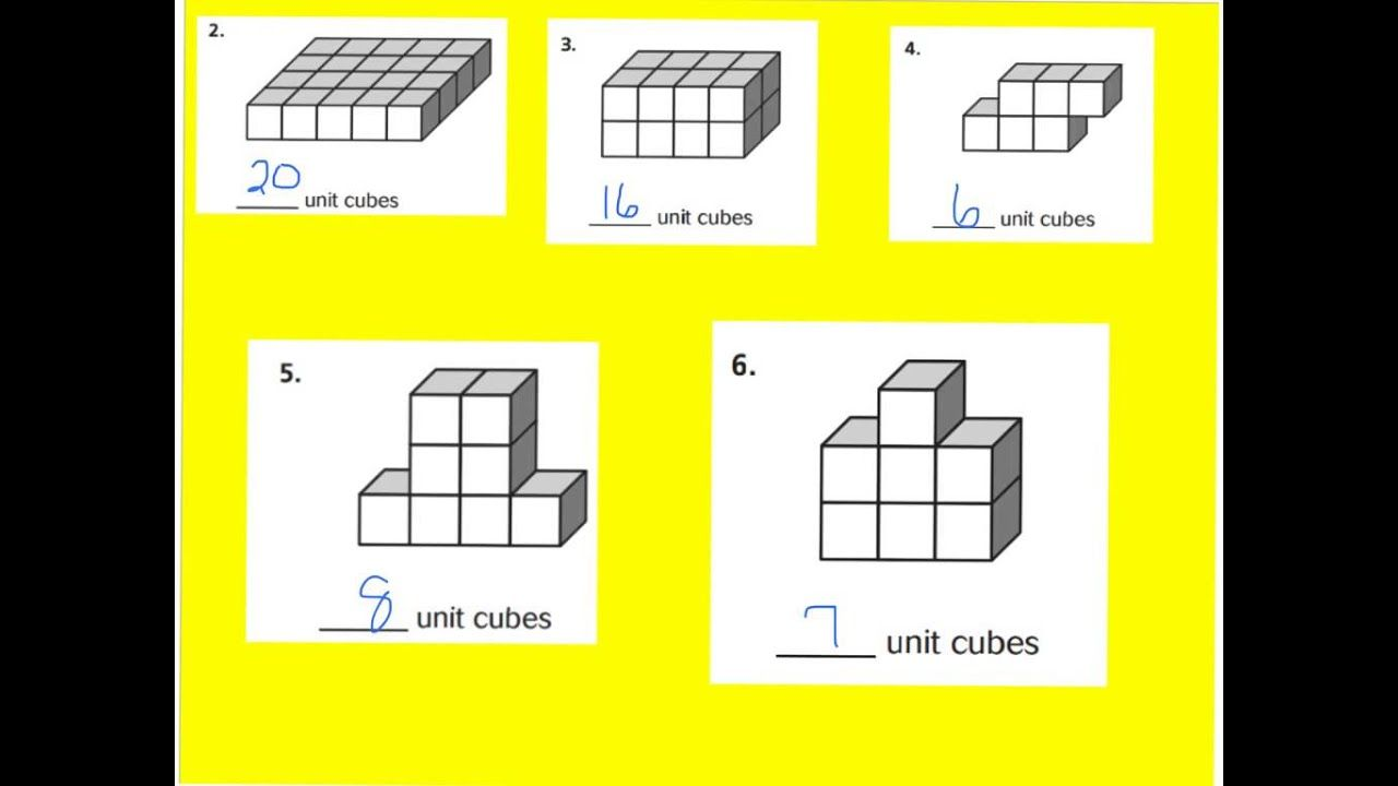 small resolution of 11.6 unit cubes and solid figures   Math worksheets