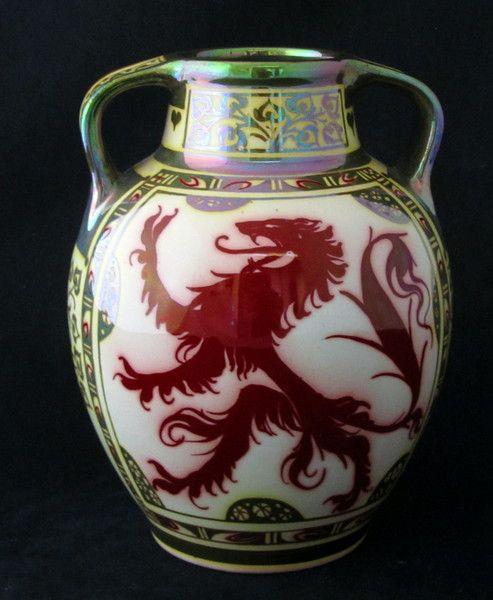 Pilkingtons Lustre Two Handled Vase By Pilkington Royal Lancastrian