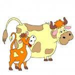 Корова с теленком из Простоквашино | Корова в искусстве ...