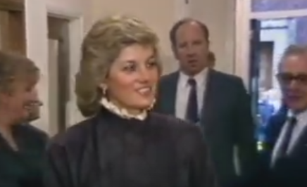 THAMES NEWS. 26.11.87.PRINCESS DIANA,NATIONAL HOSPITAL FOR NERVOUS DISEASES VISIT TO OPEN NEW FACILITIES