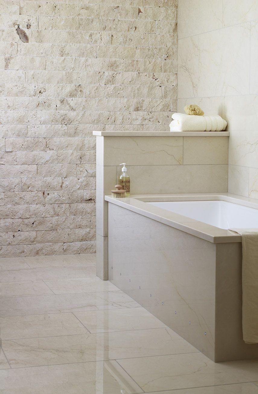 Decorative Wall Tiles For Bathroom Sparta Metro Splitface With St Adrien Polished Marble #wall