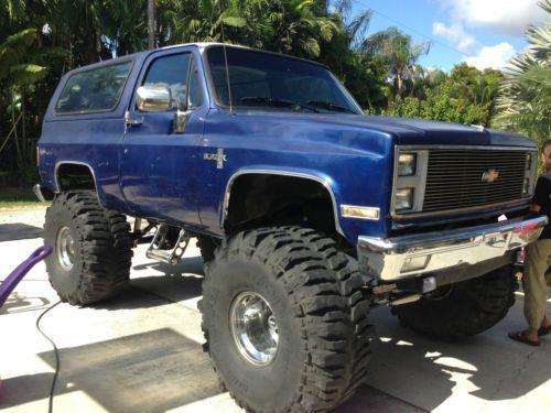 Purchase Used 1988 Chevy K 5 Silverado Blazer Monster Truck Mud