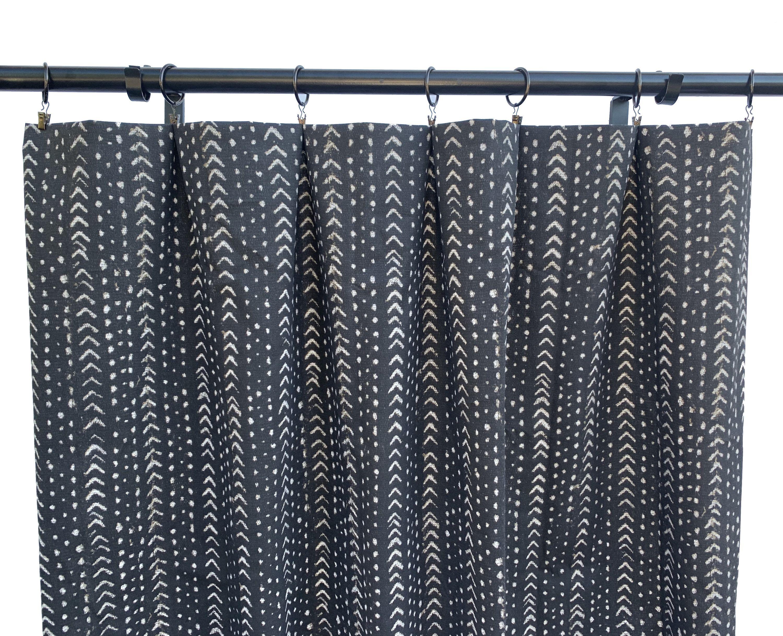 Bohemian Curtains Black And White Arrow Curtains Black Curtain