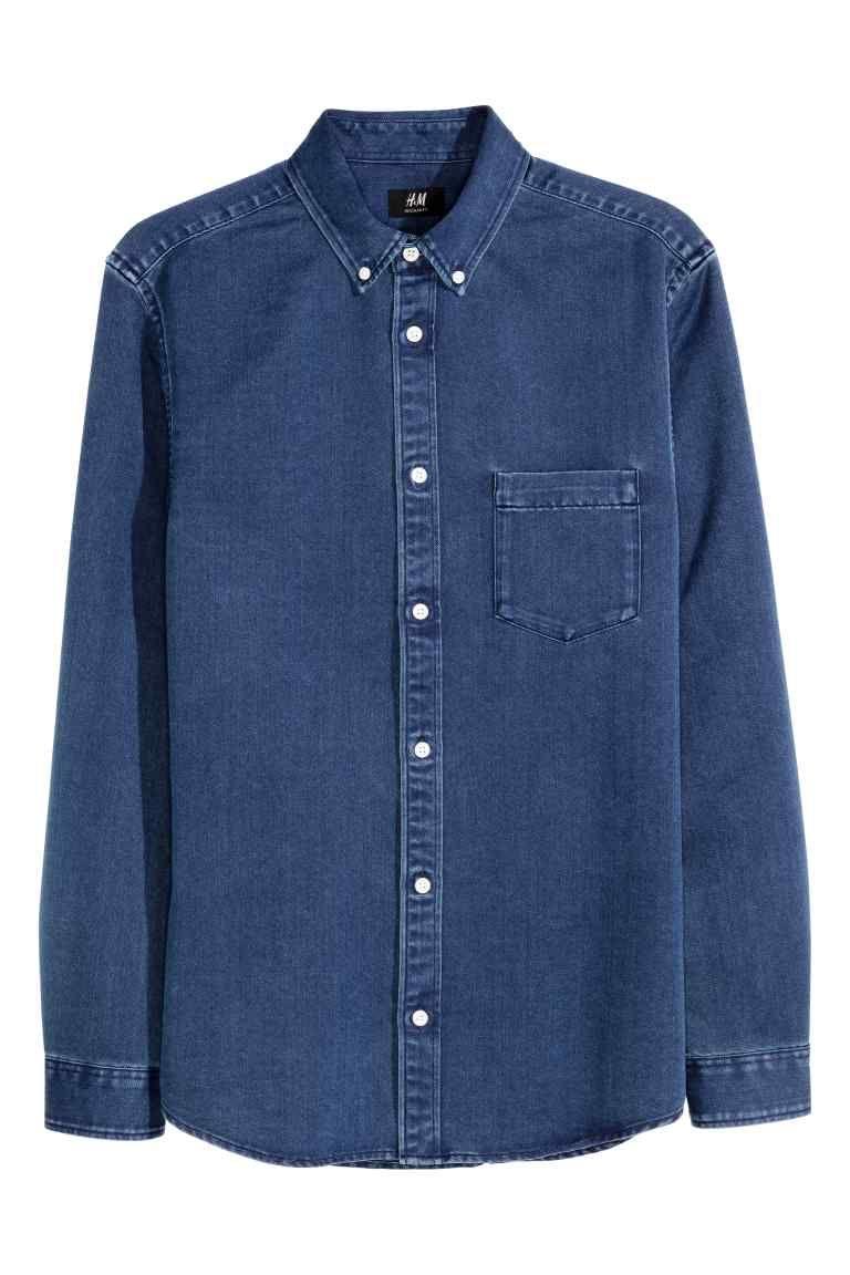 Chemise En Jean Bleu Denim Homme H M Fr Chemise En Jean Chemise En Jean Bleu Jeans
