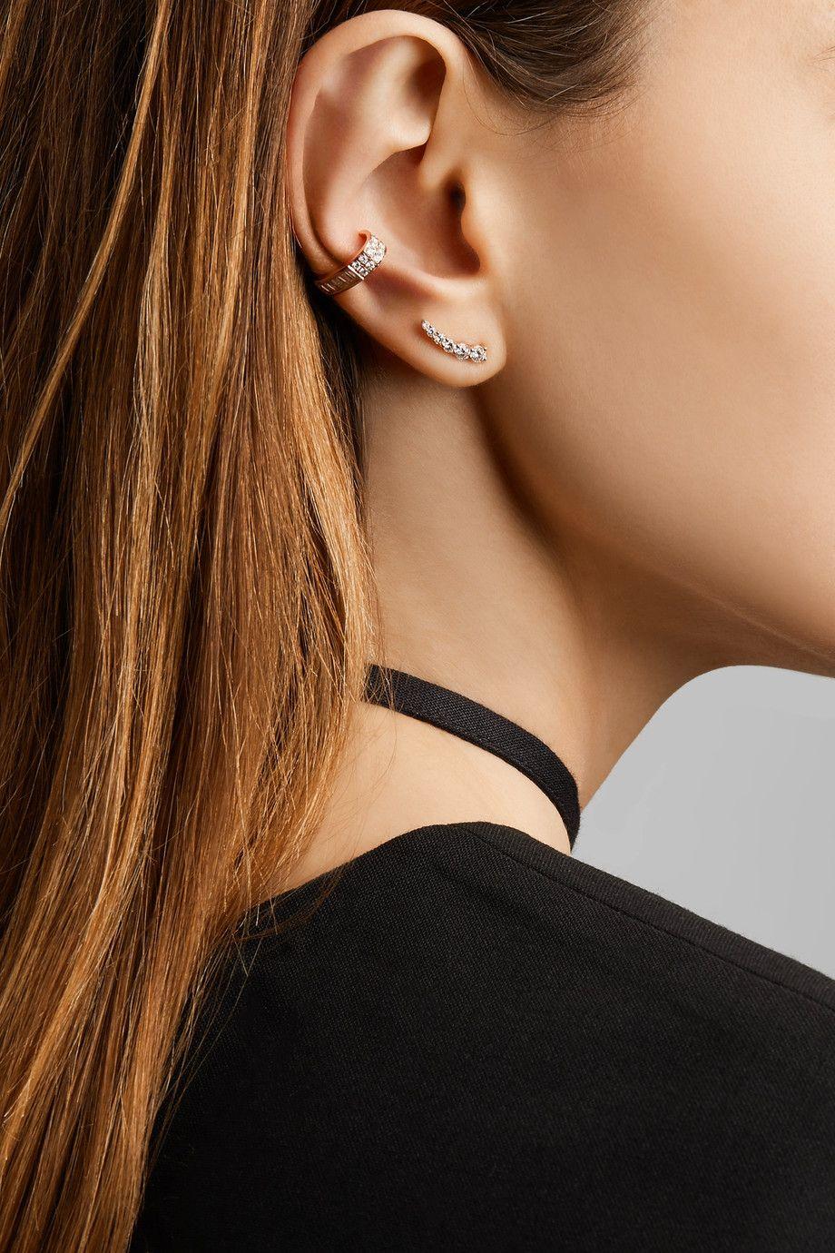 c0d45e1ea6682 Anita Ko - Floating 18-karat rose gold diamond earrings | Baubles ...