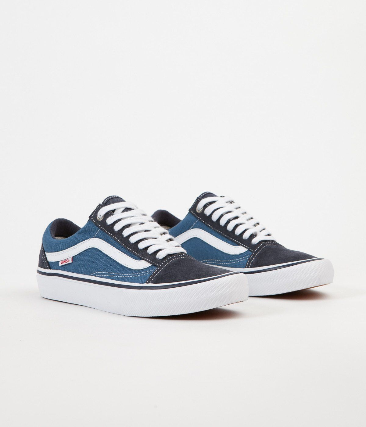 Vans Old Skool Pro Shoes Navy STV Navy White | Vans