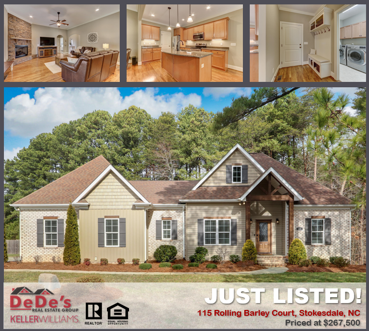Just Listed In Stokesdale Nc For 267 500 In 2020 Real Estate House Styles Mansions