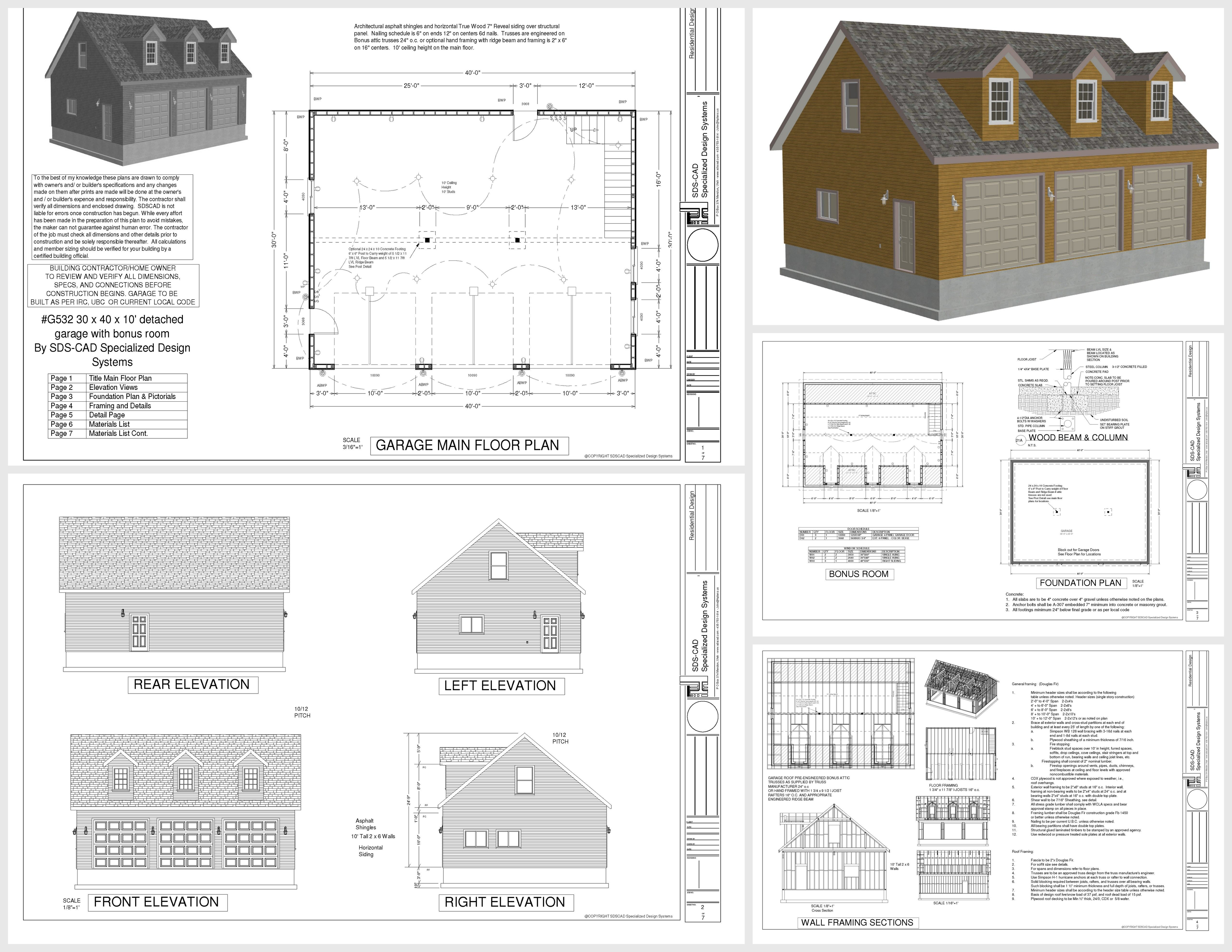 G532 30 X 40 X 10 Floor Plans Barn Plan Small House Pictures