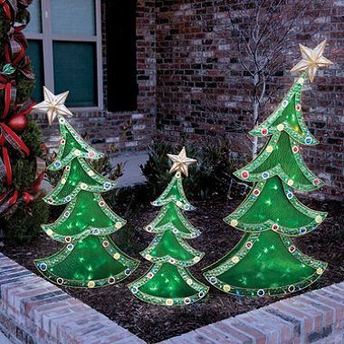 LED Decorative Christmas Trees (Set of 3) SAM's | Christmas decor ...