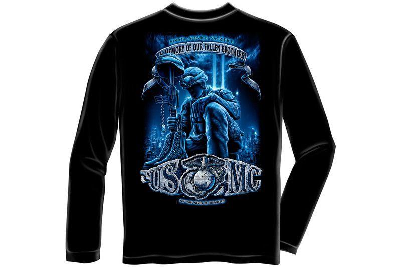 Usmc Never Forget Long Sleeve T Shirt Long Sleeve