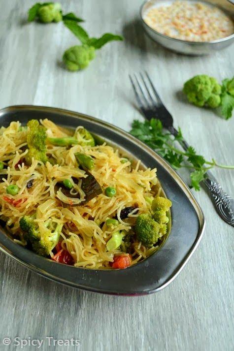 Vermicelli Broccoli Biryani Broccoli Vermicelli Biryani Biryani Rice Recipe Veg Biryani Biryani