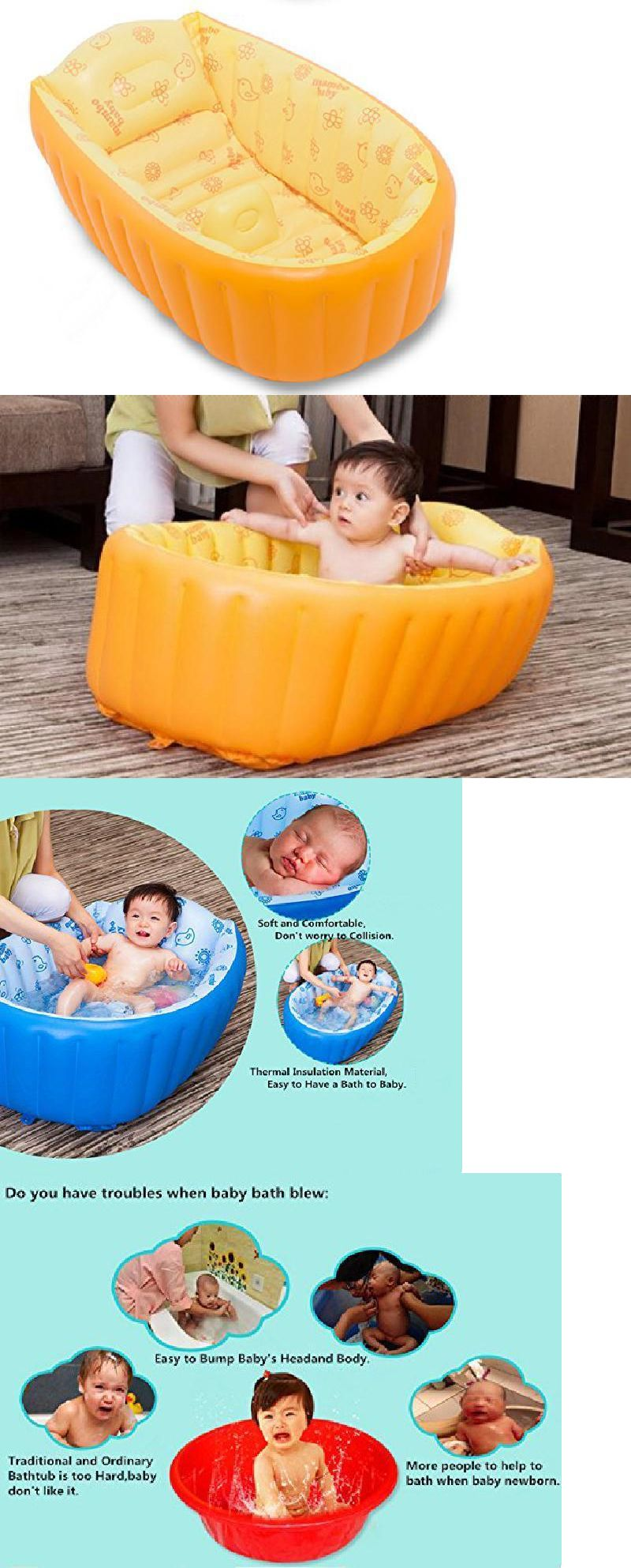 Portable Inflatable Baby Bathing Tubs and Seats Foldable Shower Pool ...