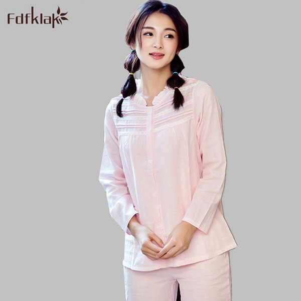 d71e6fdc43 Free Shipping New Autumn and Winter Women s Princess Pajamas Set Sleepwear  Home Clothes Lace Vintage Pijamas