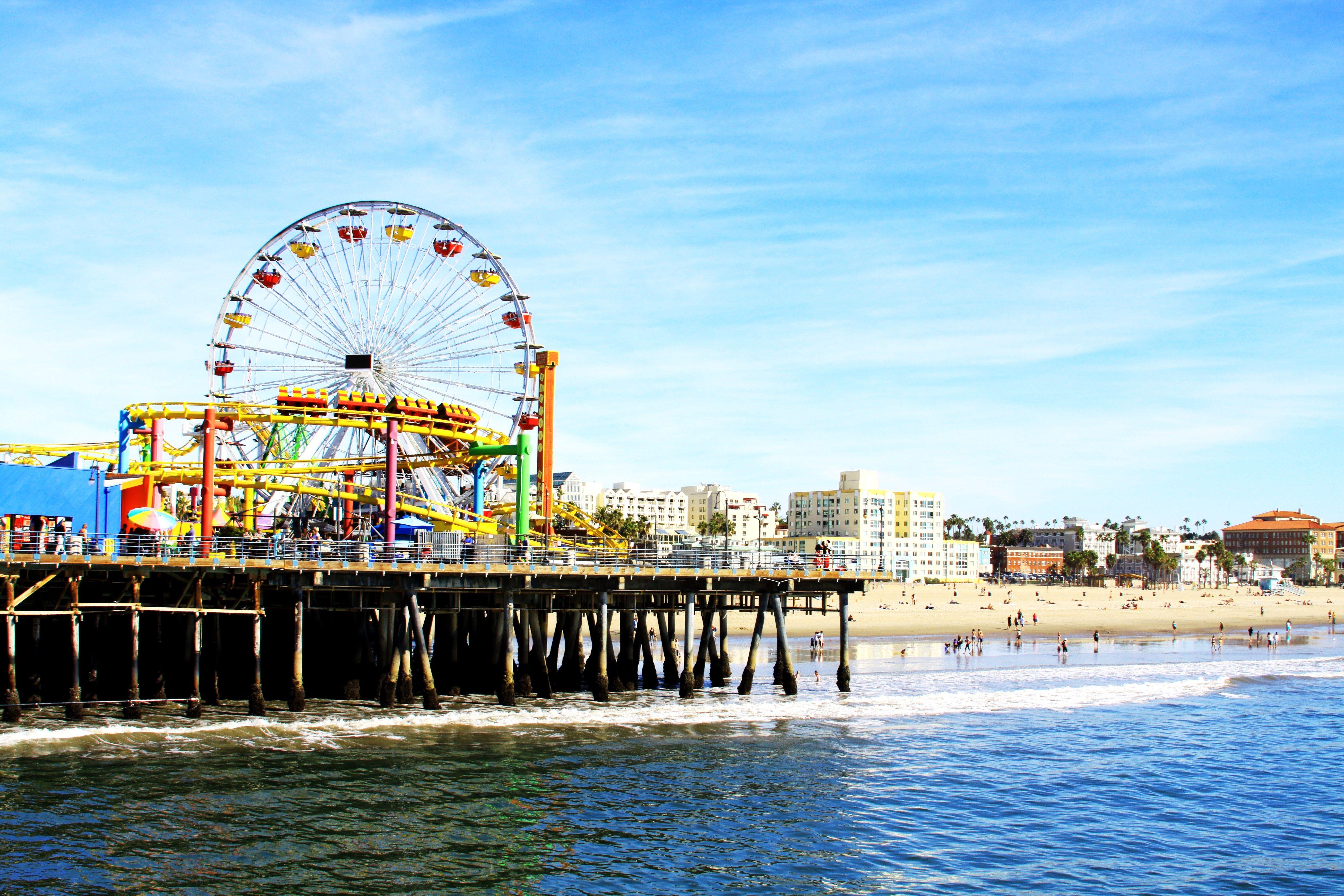 Santa Monica Pier Santa Monica Los Angeles Attractions Santa Monica State Beach Santa Monica Pier