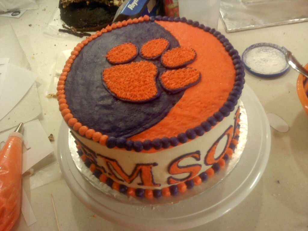 Lexias New Orleans Saints And Clemson Tiger Cake Featuring Her - Clemson birthday cakes