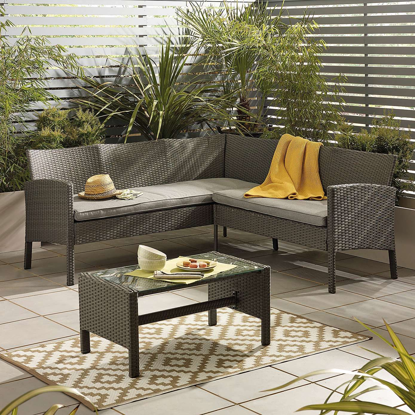 Excellent Nevada Grey Rattan Corner Sofa Set In 2019 Rattan Corner Caraccident5 Cool Chair Designs And Ideas Caraccident5Info