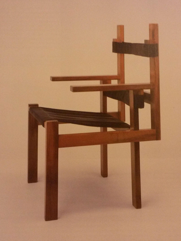 Marcel Breuer: wood-slat chair, second version, 1923 ...