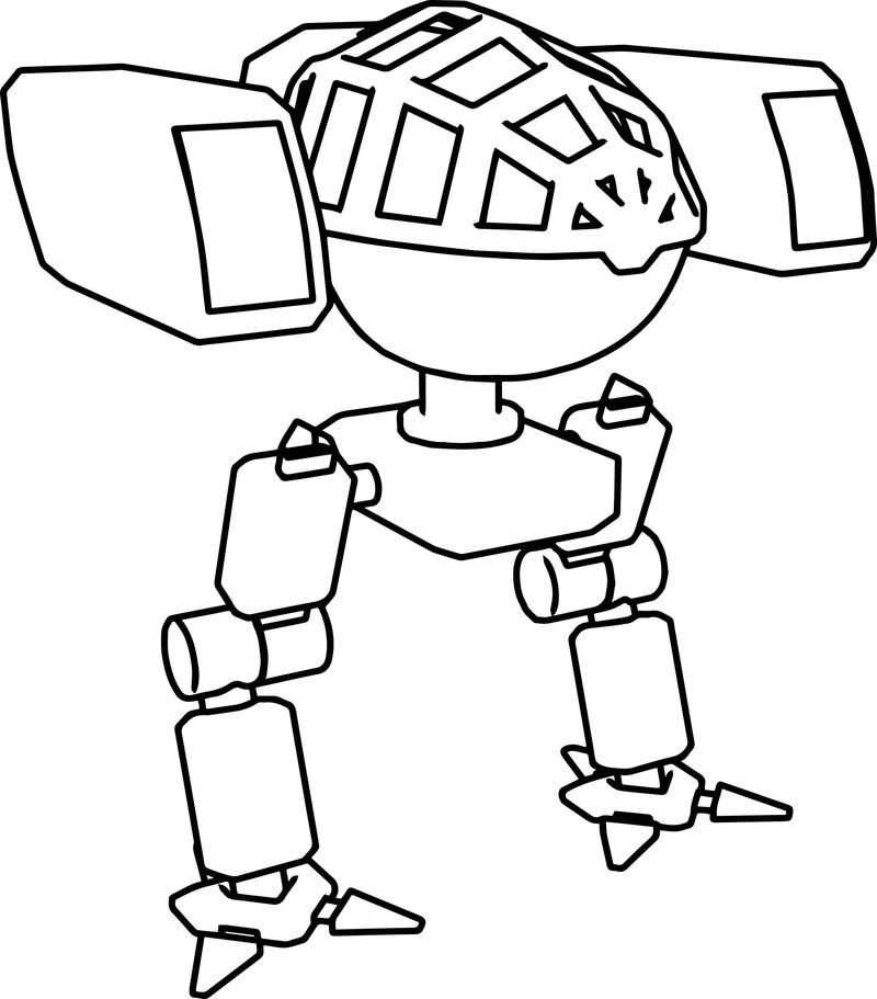 Robot Mech Character Coloring Page Di 2020