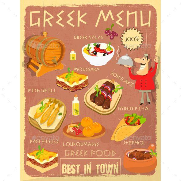 Greek Food Menu Greek Recipes Food Menu Greek Food Traditional