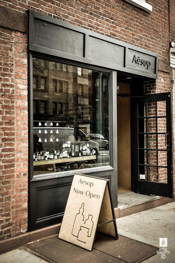Aesop bleecker street royal roulotte exterior like this for Exterior design of a retail store