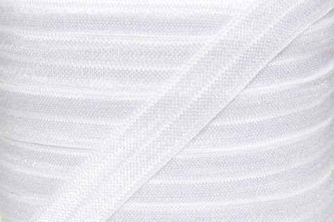 Fold Over Elastic - Craft Supplies by Couture Craft Supply - White Fold Over Elastic - 5/8 inch FOE