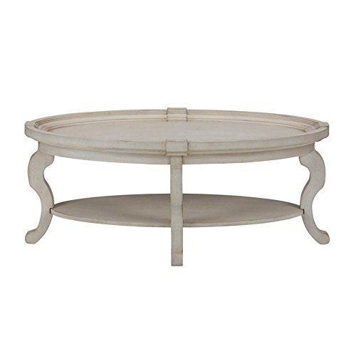 Jofran Sebastian Oval Coffee Table In Antique Cream Muebles Piolas - Antique cream coffee table