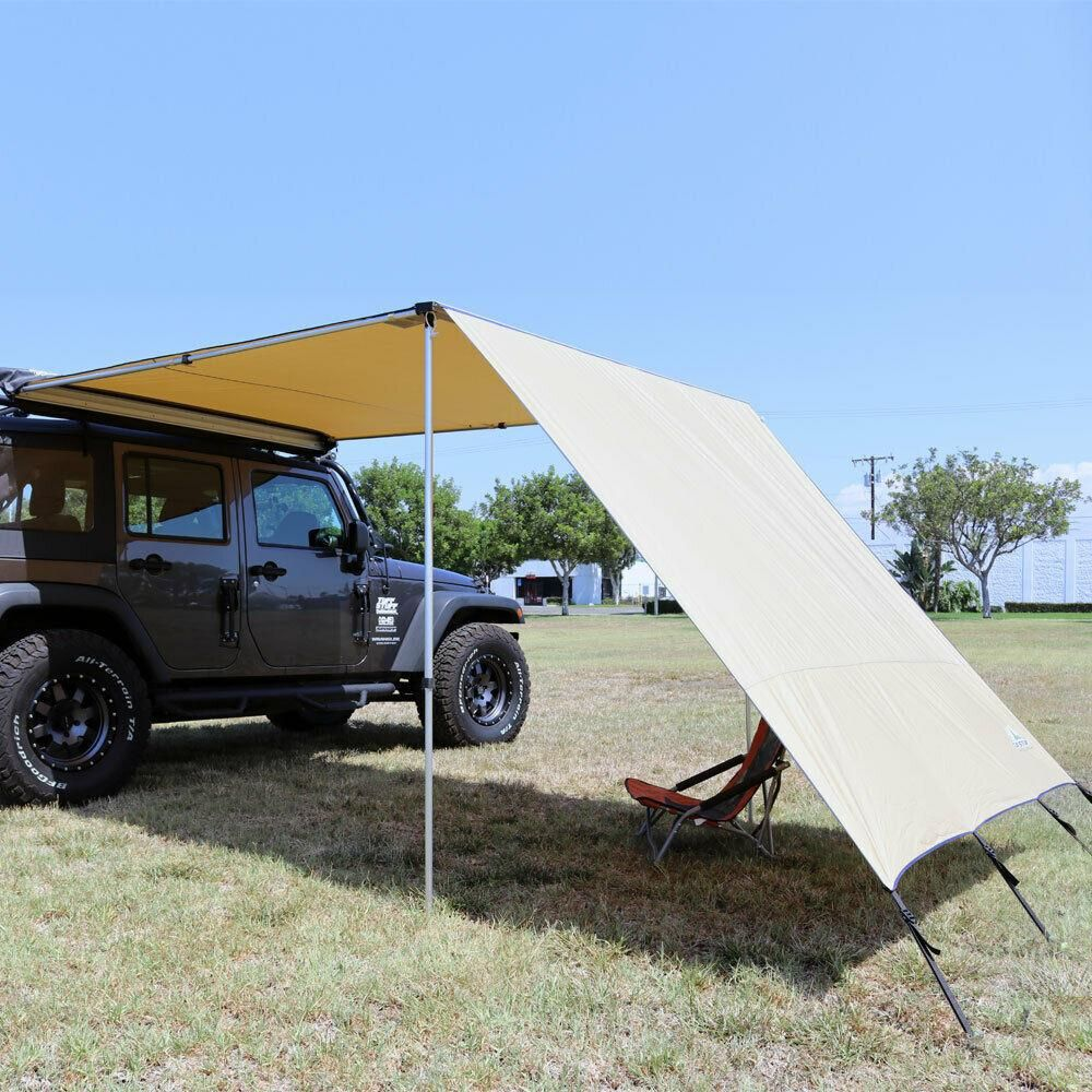 Https Auto Truck Accessories Com Products Tuff Stuff Overland Ts Awn Sw 6 5 Awning Shade Wall 6 5 X 8 Foot Portable Awn Portable Awnings Car Tent Tent Awning