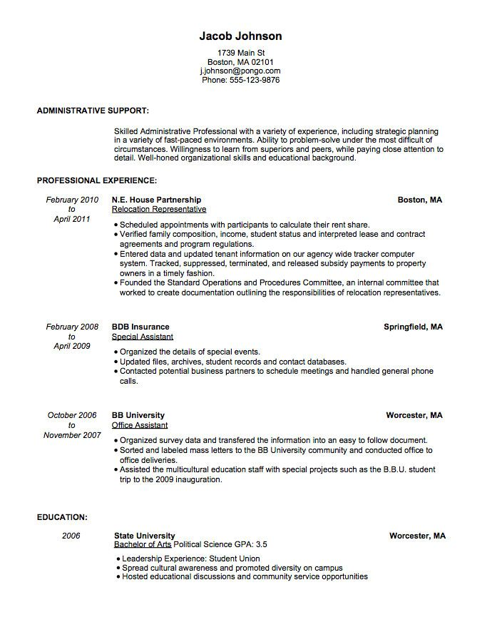 Resume Builder Resume Templates \ Samples Quick \ Easy Pongo - pongo resume