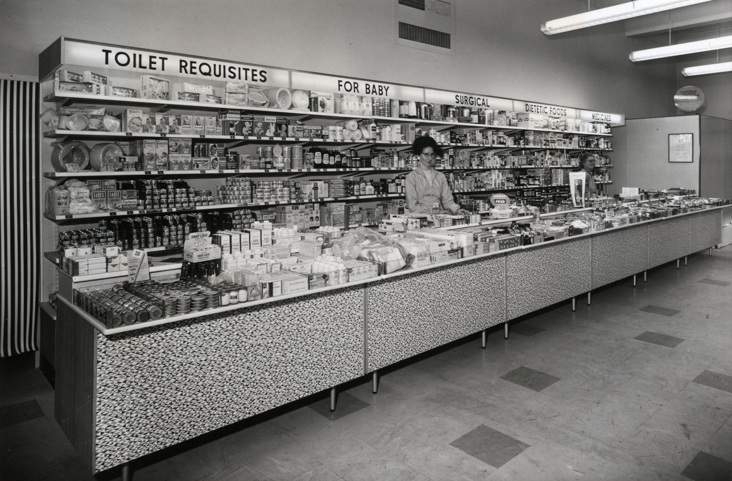 Royal Arsenal Coop Society Department Store, counter from