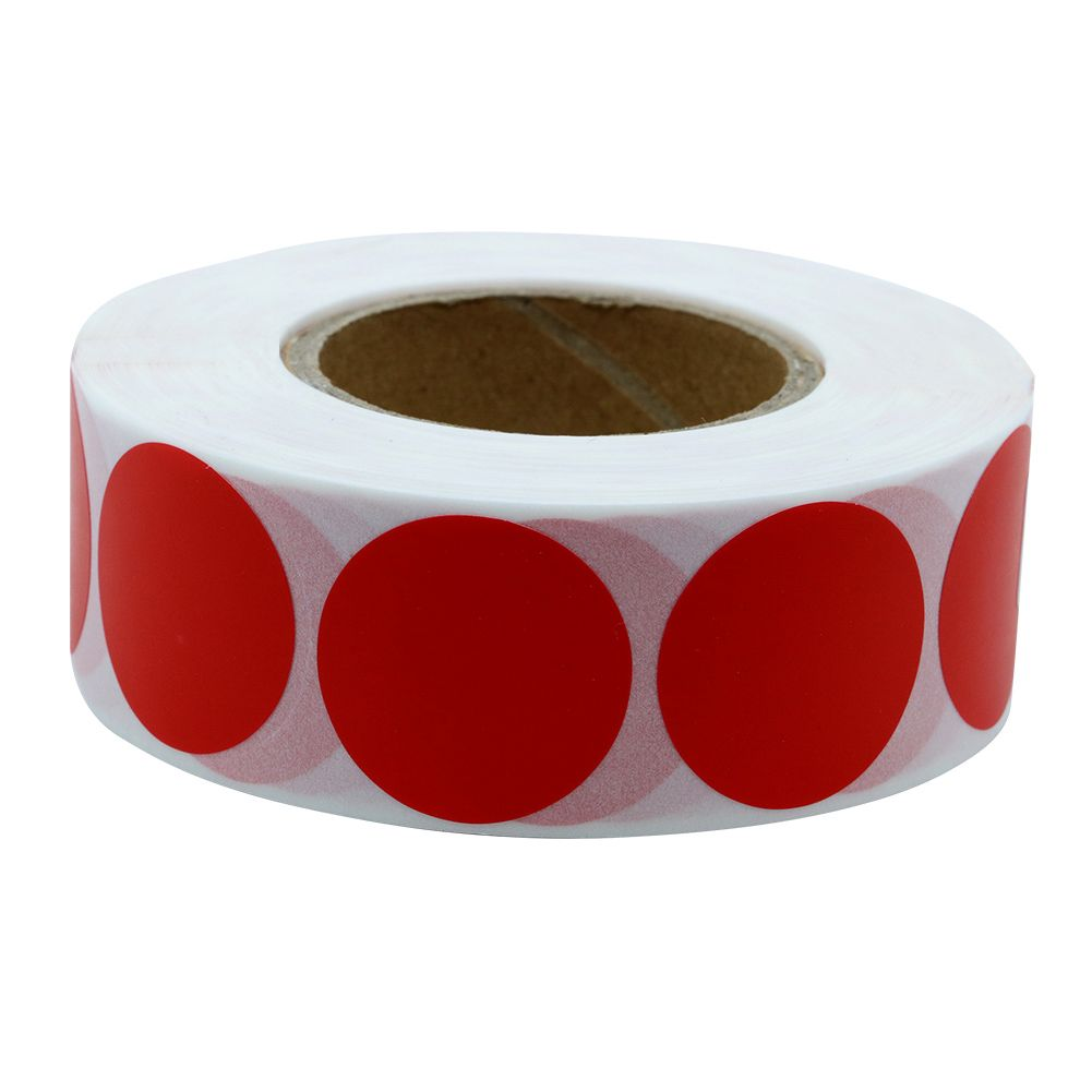 1 roll Hybsk TM Color Coding Dot Labels 1 Round Natural Paper Yellow Stickers Adhesive Label 1,000 Per Roll