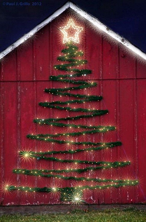 35+ Beautiful Christmas Lighting Decoration Ideas Light garland