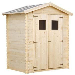 Abri de jardin en bois 2,67m² en sapin FSC - Achat / Vente abri ...